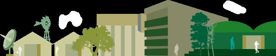 Gráfico vectorizado de las instalaciones de la FCA - UNC