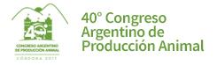 Acceso al sitio del 40º Congreso Argentino de Producción Animal