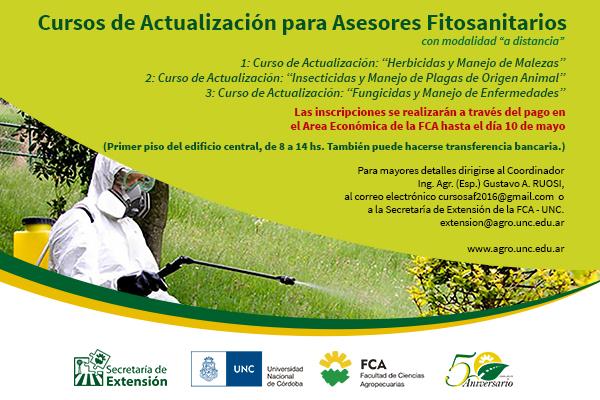 Cursos de actualización para asesores fitosanitarios
