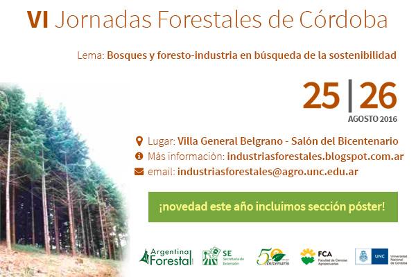 Para agendar, se vienen las Sextas Jornadas Forestales