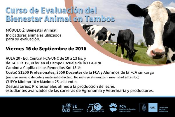 Llega el Segundo Módulo del Curso de Evaluación del Bienestar Animal en Tambo