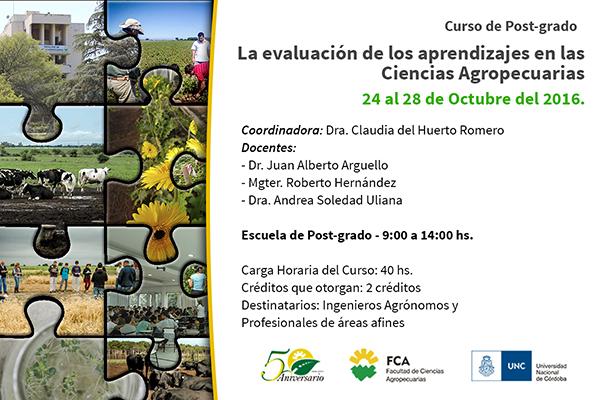 Curso de Post-grado: La evaluación de los aprendizajes en las Ciencias Agropecuarias
