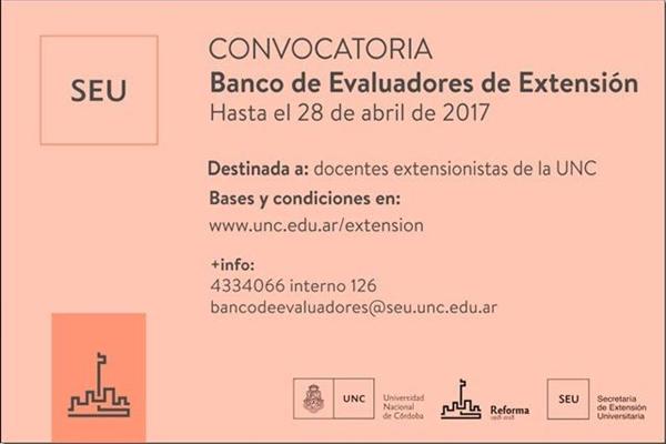Banco de Evaluadores de Extensión 2017