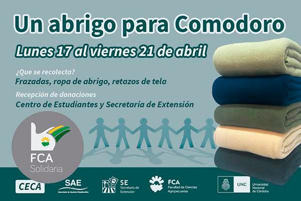 """""""Un abrigo para Comodoro"""", la nueva campaña de la FCA Solidaria"""