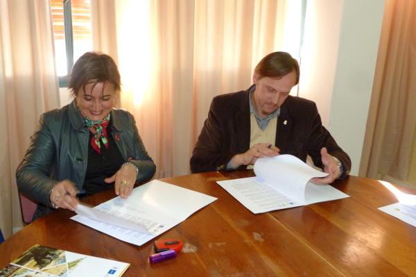 Acuerdo entre la FCA y Estación Juárez Celman, para potenciar su Parque Agroecológico