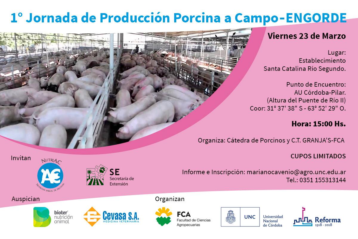1era Jornada de Producción Porcina a Campo en Río Segundo