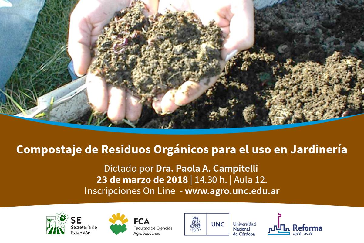 Compostaje de Residuos Orgánicos para el uso en Jardinería