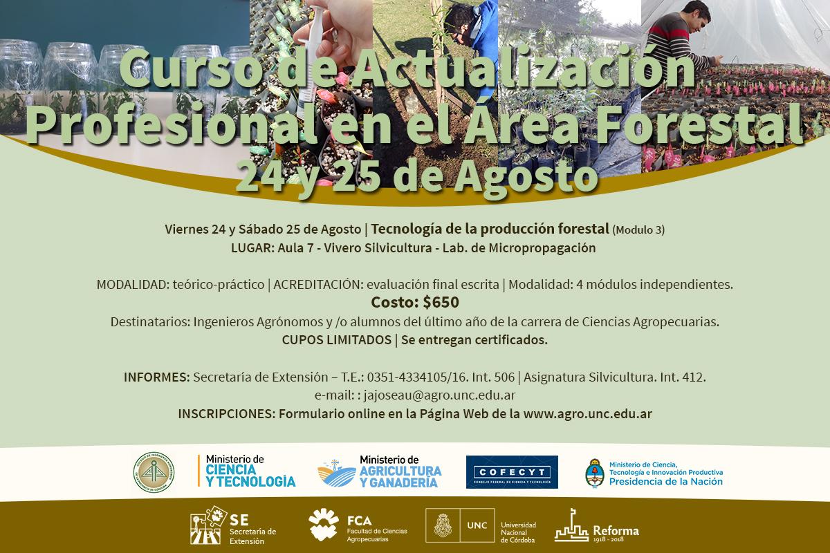 III Módulo del Curso de Actualización Profesional en el Área Forestal