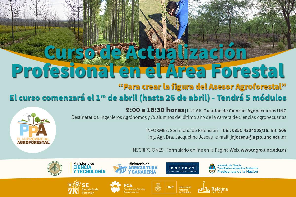 Curso de Actualización Profesional en el Área Forestal