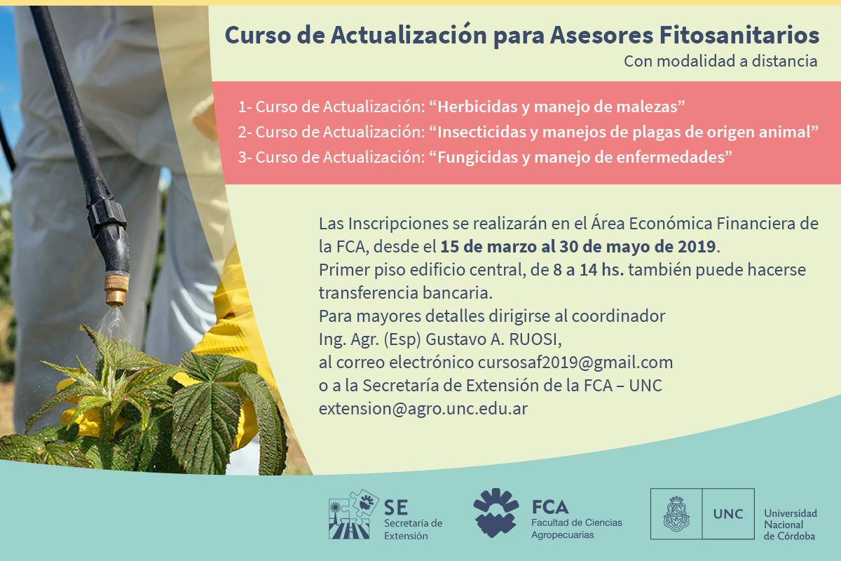 Cursos de actualización online para asesores fitosanitarios