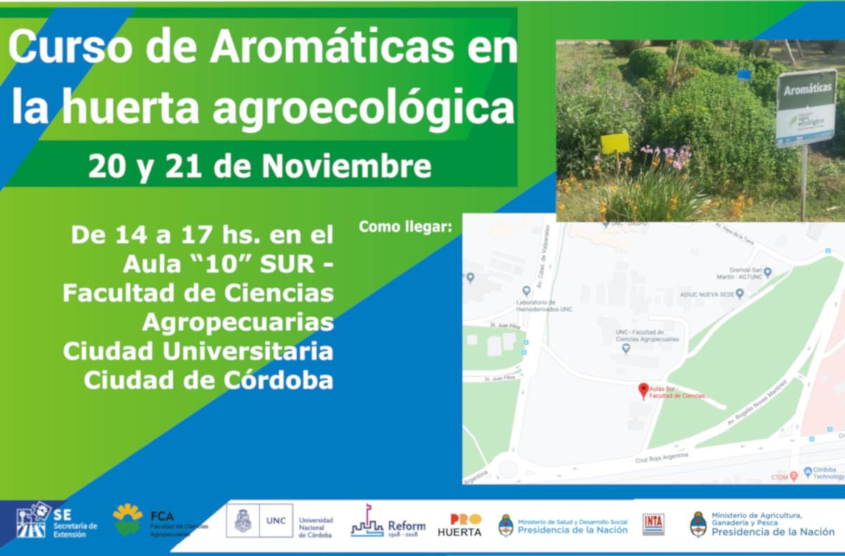 Curso de Aromáticas en la huerta agroecológica