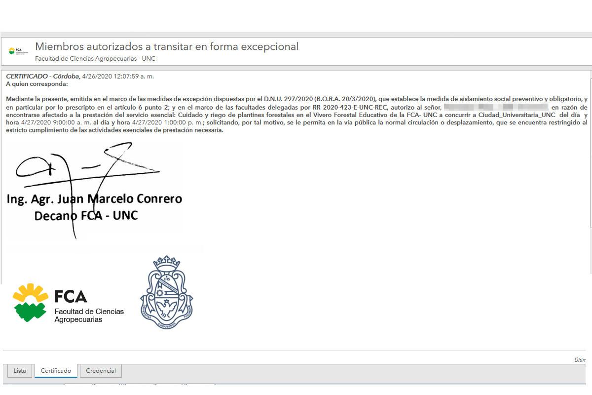 Solicitud de autorizaciones para ingresar a la Facultad