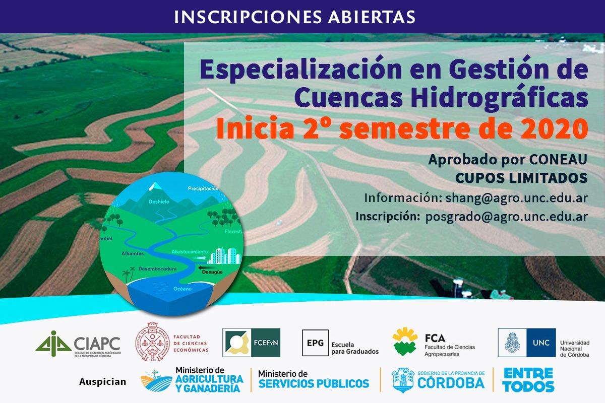 Especialización en Gestión de Cuencas Hidrográficas