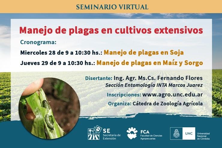 Seminario virtual: Manejo de plagas en cultivos extensivos