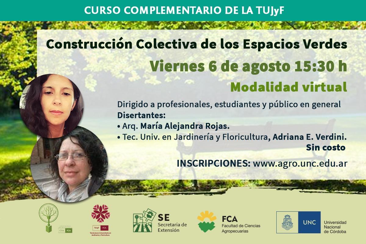 """Nueva charla: """"Construcción Colectiva de los Espacios Verdes"""""""