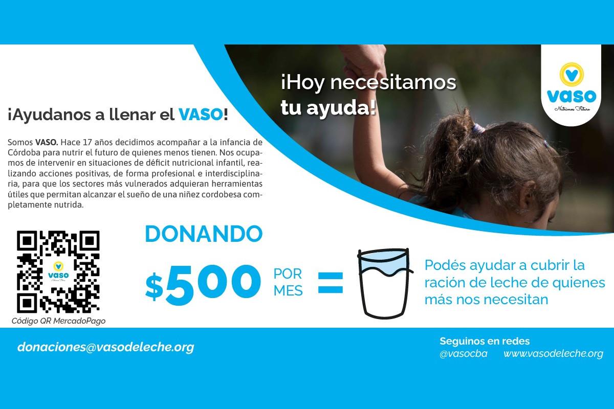 """Campaña Solidaria: """"Llenemos el VASO"""""""