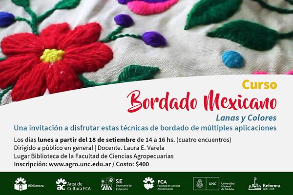 Curso de bordado mexicano en la FCA