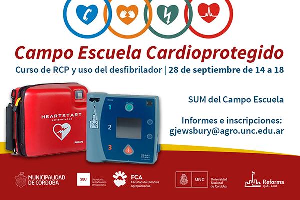 El Campo Escuela será sede de un curso de RCP y uso del desfibrilador