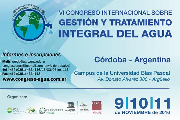 VI Congreso Internacional sobre Gestión y Tratamiento del Agua