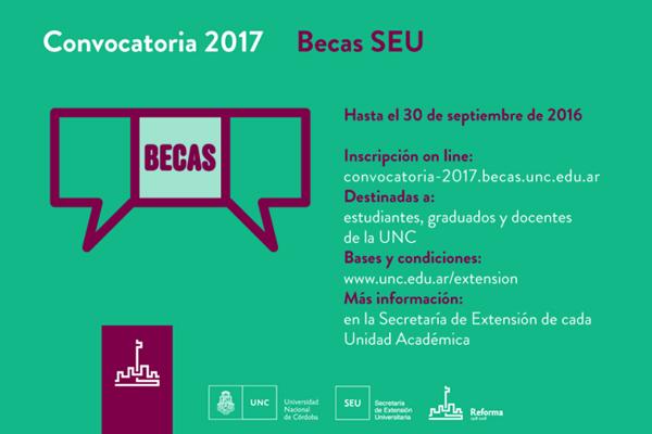 Becas a Proyectos de Extensión SEU 2017