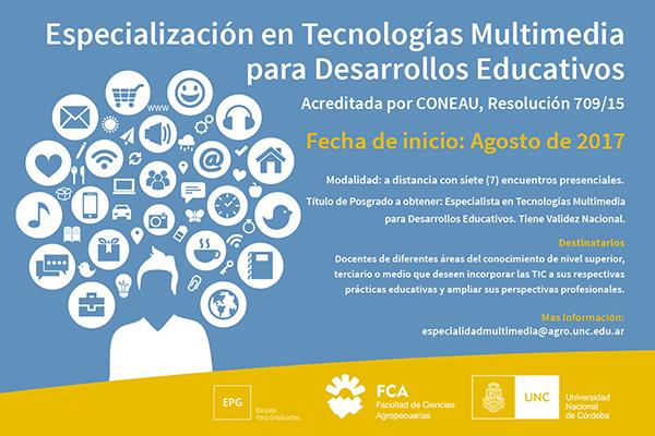 Especialización en Tecnologías Multimedia para Desarrollos Educativos