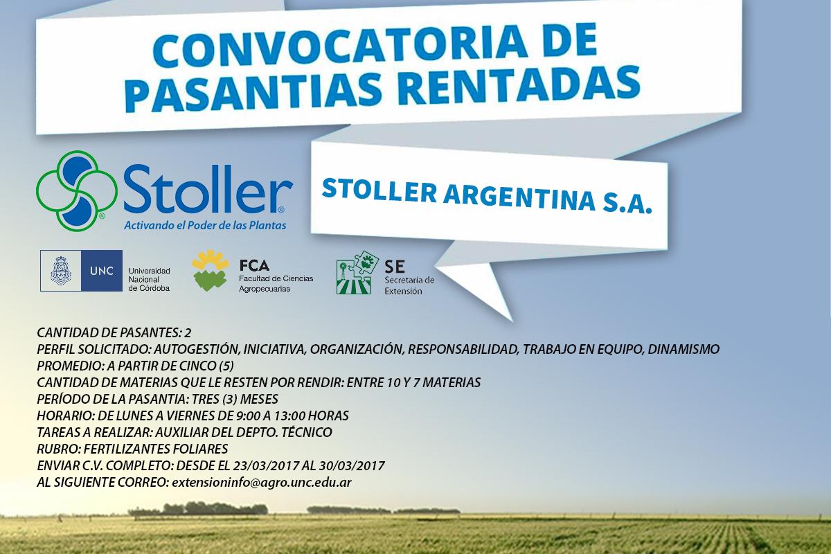 Convocatoria Stoller