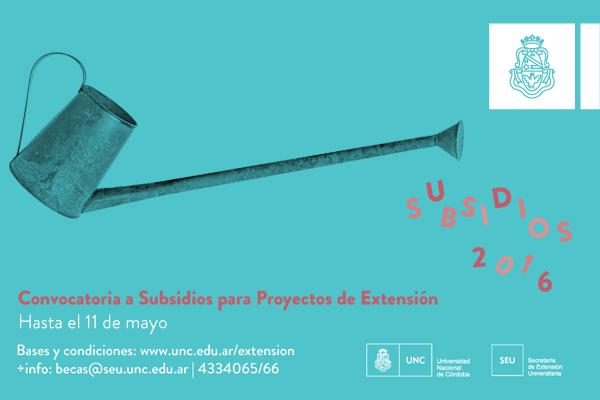 Programa de Subsidios a Proyectos de Extensión 2016-2018