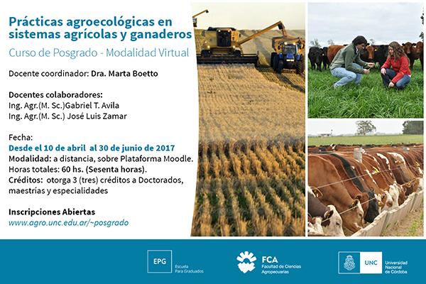Prácticas agroecológicas en sistemas agrícolas y ganaderos