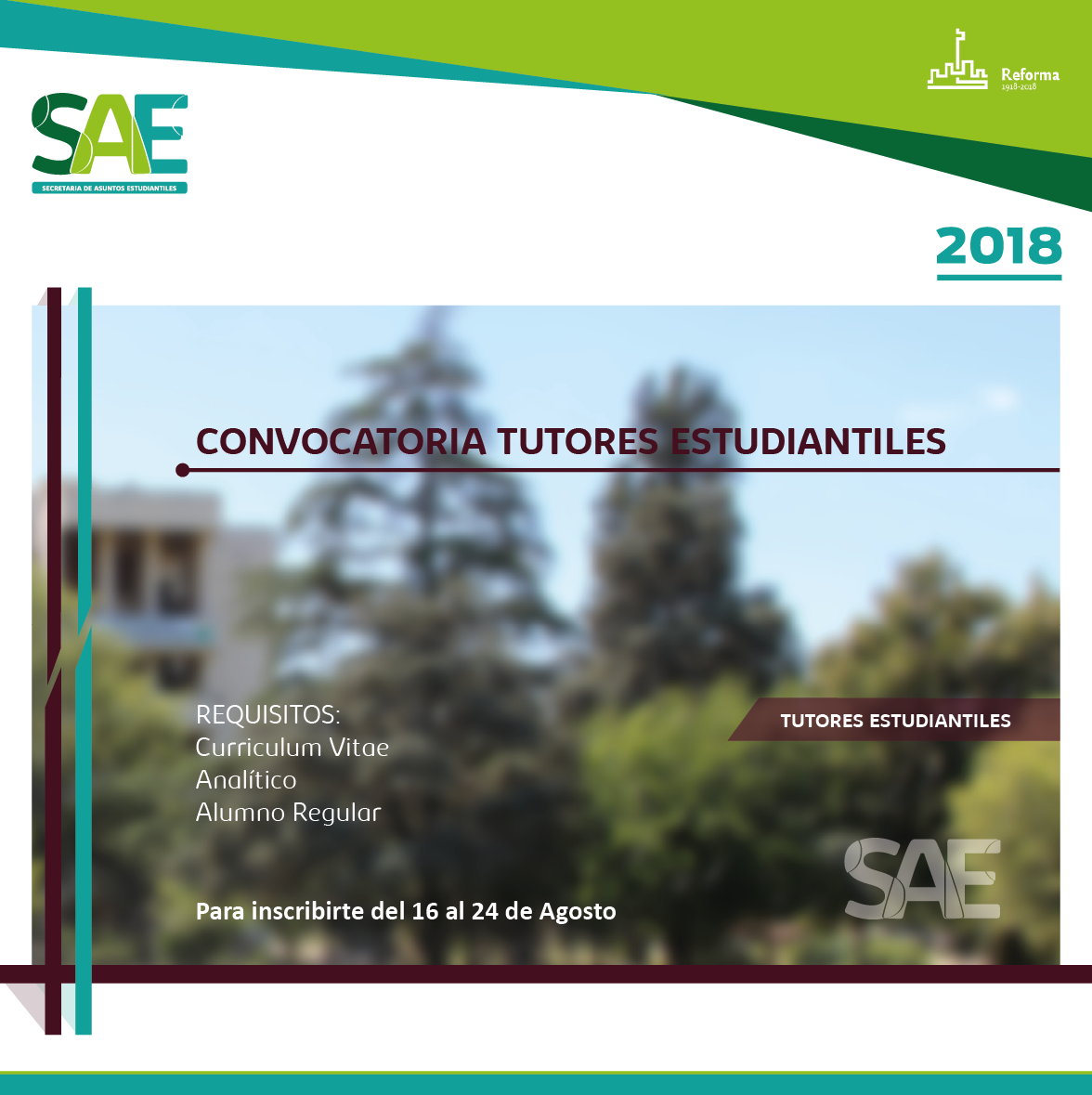 convocatoria tutores estudiantiles
