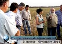 Foro de Decanos de Agronomía del Mercosur Noviembre 2014