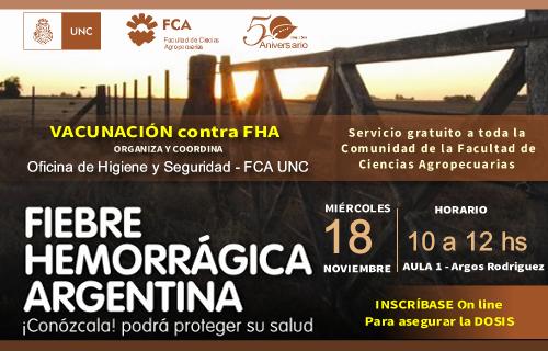 Servicio gratuito de vacunación contra la Fiebre Hemorrágica Argentina