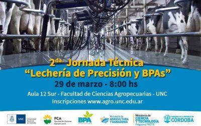 2da. JORNADA TÉCNICA DE LECHERÍA DE PRECISIÓN Y BPAs.