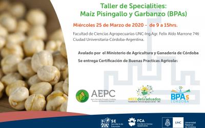 Taller de Specialties: Maíz Pisingallo y Garbanzo (BPAs)